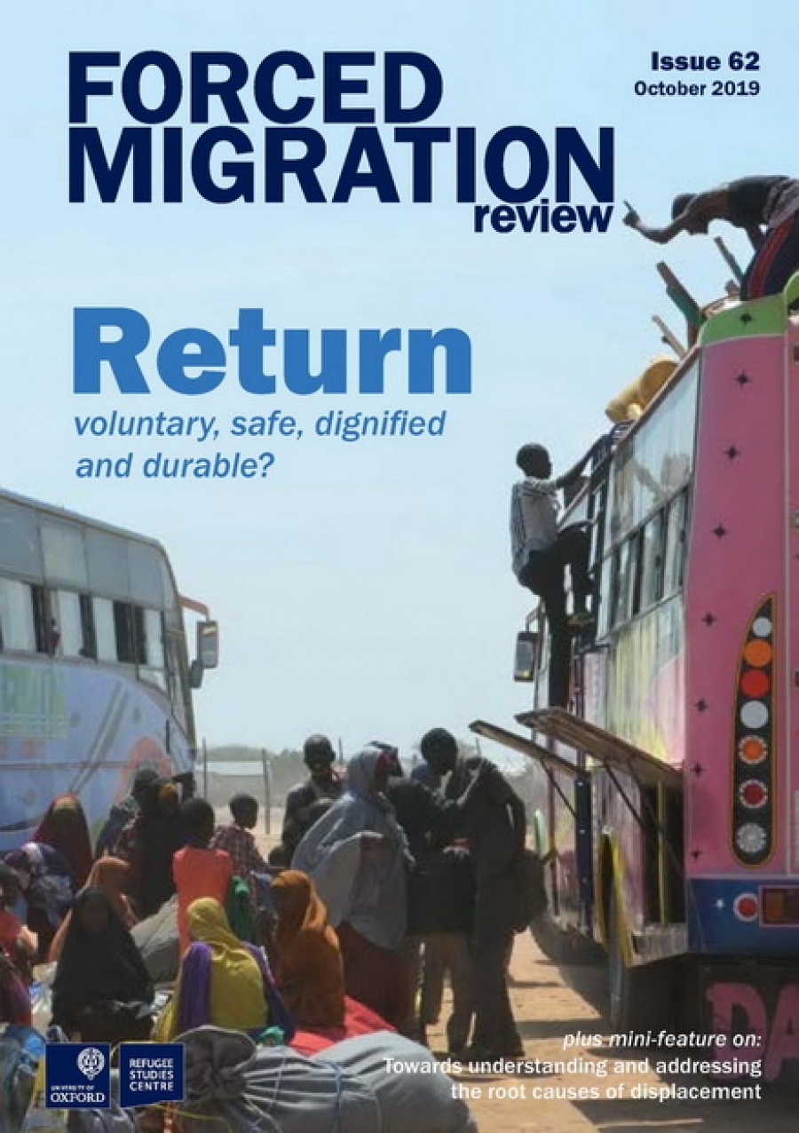 Forced Migration Review 62 on 'Return' and 'Root causes' now online